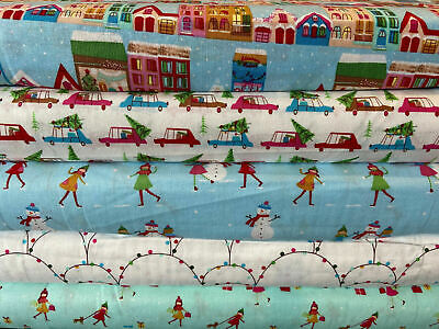 /'Christmas Pooches/' 100/% Cotton Fabric by 1//4 Metre* Dogs//Pugs//French Bulldog
