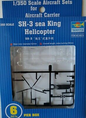RCECHO/® TRUMPETER Helicopter Model 1//350 SH-3 sea King Helicopter Hobby 06214 P6214 174; Full Version Apps Edition