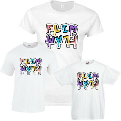 Drip Flim Flam AlbertsStuff Flamingo ,Mens, Ladies, Kids T-Shirt Top Youtube New
