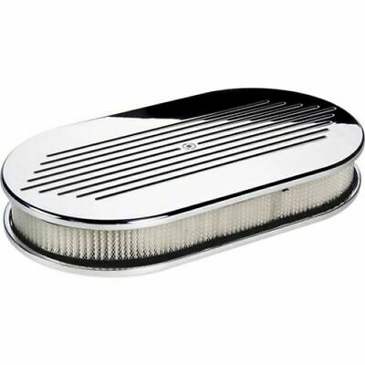 BILLET SPECIALTIES RIBBED POLISHED ALUMINUM AIR CLEANER,SMALL OVAL,15630
