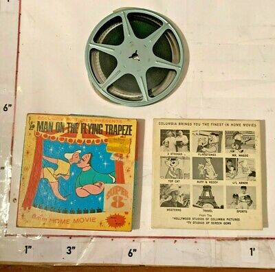 1960/70s Columbia Pictures Super 8 mm Film Man on the Flying Trapeze w Box