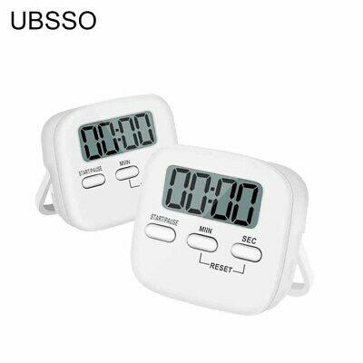 UBSSO Kitchen Digital Timer Cooking Baking Magnetic LCD Count Down Up Loud Alarm