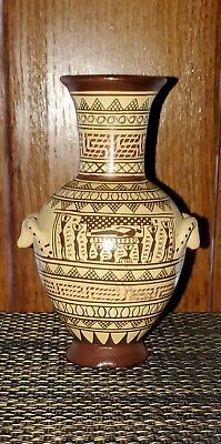 Signed Vtg Vase No. 224/B Geometrical Amphora 700 BC Museum Hand Made in Greece
