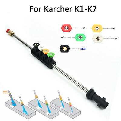 Car Washing Metal Jet Lance Nozzle With 5x Quick Nozzle Tip For Karcher K1 To K7