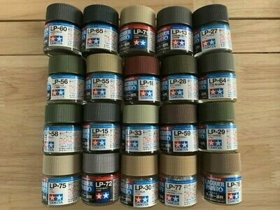 Tamiya LP Paint Bundle. 20 x 10ml Jars. See description for colours Included.
