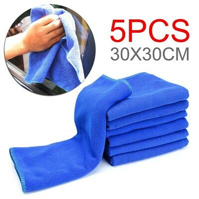 Large Microfiber Cleaning Auto Car Detailing Soft Cloths Wash Towel Duster ·UK