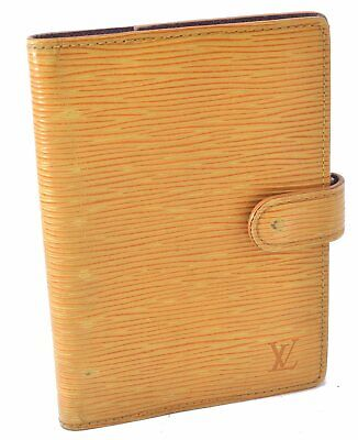 Authentic Louis Vuitton Epi Agenda PM Day Planner Cover Yellow LV A4529
