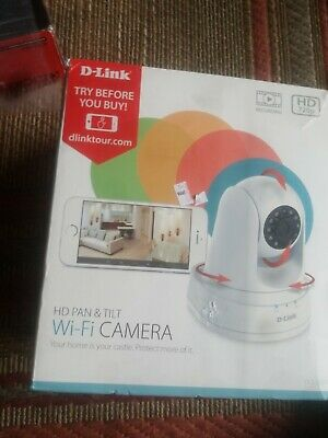 D-Link HD Pan & Tilt Wi-fi Camera Night/day Vision 720p Resolution DCS5030L