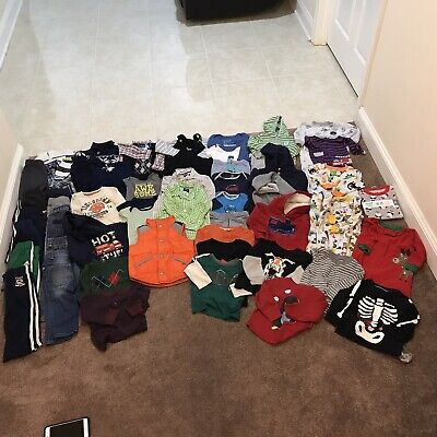 Huge Lot Of Baby Boys Size 18 Months Clothing Lot 57 PCS Fall Winter Halloween
