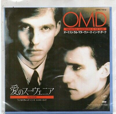 """7"""" Picture Sleeve J - Orchestral Manoeuvres in the Dark - Souvenir - VIPX-1612."""