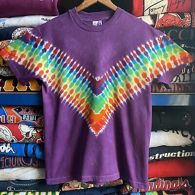 Vintage 1995 Multicoloured Single Stitch Tie Dye T Shirt Medium