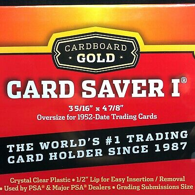 Cardboard Gold Card Saver 1 - 10 Ct Holders For PSA BGS SGC Graded Submission
