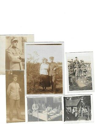 6x diff WW1 GERMAN Real Photos SOLDIERS IN UNIFORM GROUP POSE neat lot HISTORY