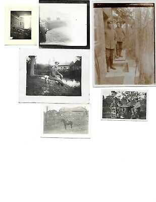6x diff WW1 GERMAN Real Photos SOLDIERS IN UNIFORM GROUP POSE lot HISTORY #4