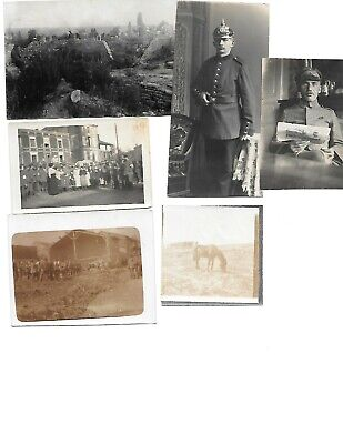 6x diff WW1 GERMAN Real Photos SOLDIERS IN UNIFORM GROUP POSE lot HISTORY #10