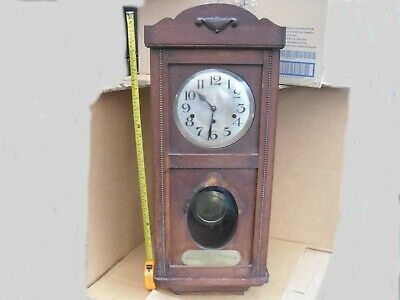 1926 Police Retirement Charles W King Vintage Urgos Clock Westminster Chiming