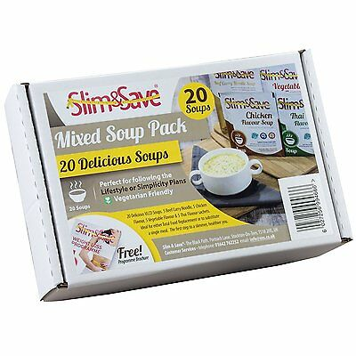 20 Slim & Save Soups -  VLCD Mixed Soup Deal with 4 Flavours, Meal Replacement