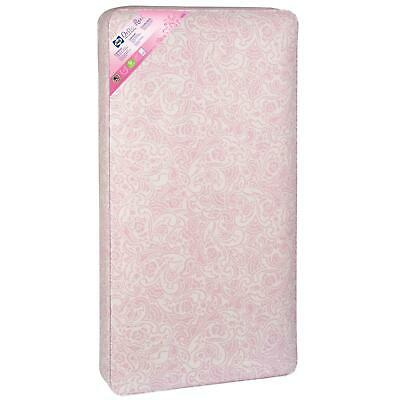Baby Crib Mattress Firm Infant Toddler Bed Comfort Waterproof Child Girl Pink