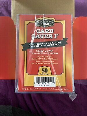 Cardboard Gold 50 Card Saver 1 PSA submission Semi Rigid Card Holders Sealed