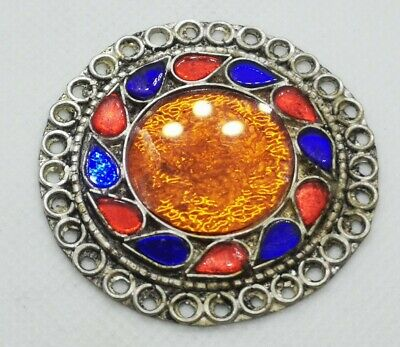 Lovely Late Medieval Islamic Ottomans Silvered Pendant With Decoration