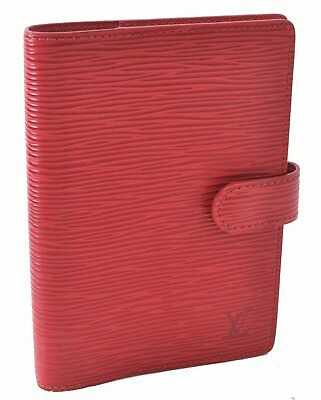 Authentic Louis Vuitton Epi Agenda PM Day Planner Cover Red LV A5435