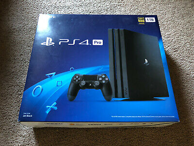 Sony PlayStation 4 Pro 1TB 4K Console - Jet Black - Lightly Used - Original Box