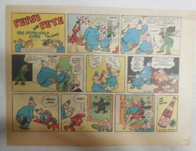 Pepsi and Pete The Pepsi-Cola Cops from 1940/'s 7.5 x 15 inches by Rube Goldberg