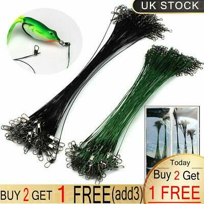 Trace Wires Leader Stainless Steel Coated Pike Perch Fishing Sea Tackle All Size