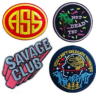 Sarcastic Funny Phrase Ass Rude Savage Quote Designs Embroidered Iron on Patch