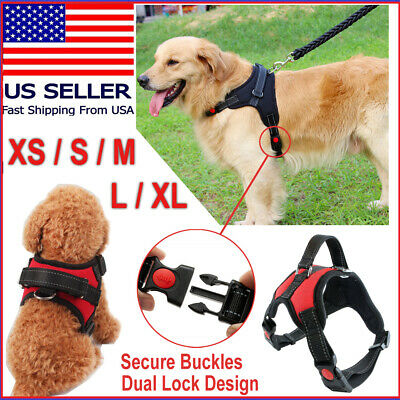 No Pull Pet Service Dog Vest Harness Adjustable Control Reflective XS S M L XL