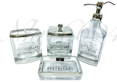 H Gnasendorff Apothecary Soap Dispenser Clear Glass Large NEW Hotel Balfour Dr