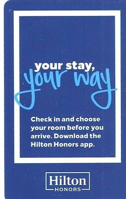 YOUR STAY YOUR WAY PAIR OF HILTON HOTEL ROOM KEY CARDS ITS TIME TO LET ME GO