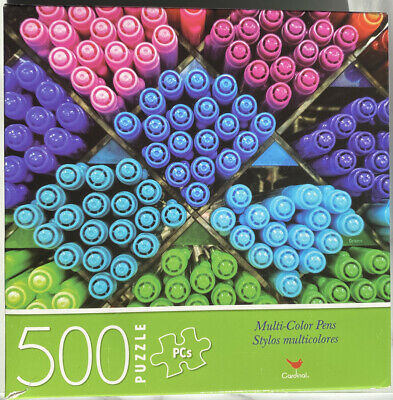 """LOT OF 2 Jigsaw Puzzle MULTI-COLOR PENS /& LITTLE PUPPIES 14/"""" x 11/"""" Cardinal NEW"""