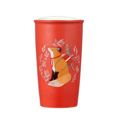 Thailand Starbucks Holiday Fox Cup to Go 12oz
