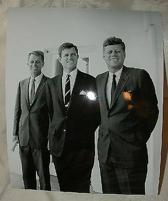 Ted and President John Kennedy at the White House 1963 8x10 Photograph Robert