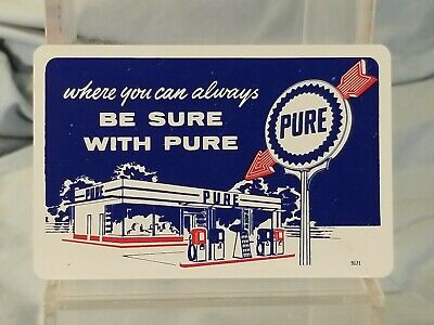 Vintage Advertising Pocket Wallet Calendar Card: 1960 PURE OIL Union Oil