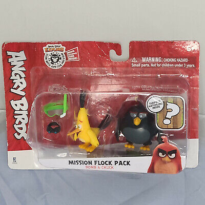 Rovio Angry Birds-Mission troupeau pack - Rouge Argent bombe Chuck x3 Leonard!
