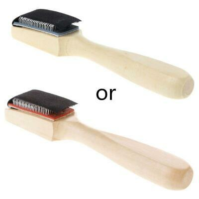 Wood Suede Sole Wire Cleaning Brush for Latin Salsa Tango Dance Shoes Tool J7
