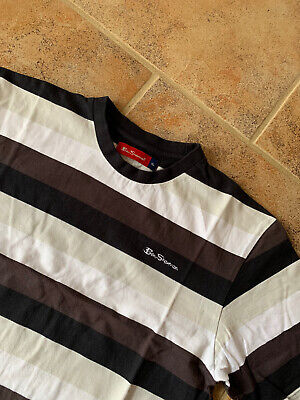 Ben Sherman Boys Dark Stripe Tshirt Size XL Chest 38""