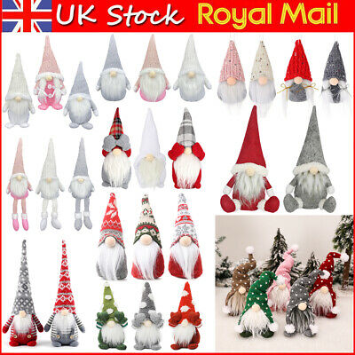 Sparkly Deluxe Santa Gnomes Gonks Christmas Decorations Dolls Xmas Gift For Kids