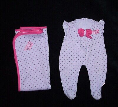 AG Bitty Baby Floral Blanket Striped PJs Pink Sleeper