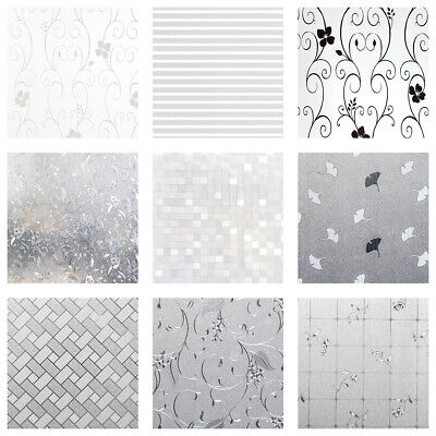Frosted Window Film Frost Etched Privacy Glass Self Adhesive Vinyl Multi Sizes