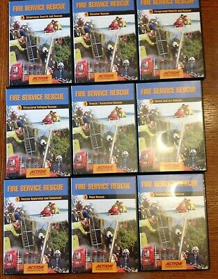 Fire Service Rescue 9 DVDs, Action Training Systems