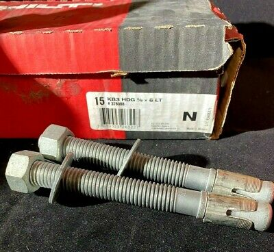 Box of 25 HILTI KB3 HDG Expansion Anchor 1//2IN X 5-1//2IN LT