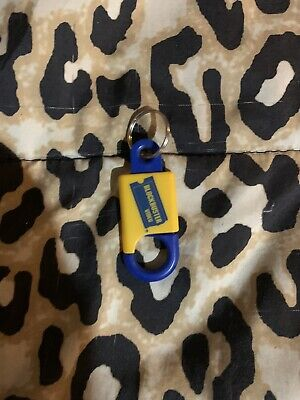 Blockbuster Video Vintage Key chain Blue Yellow Collectible VHS Movie Store