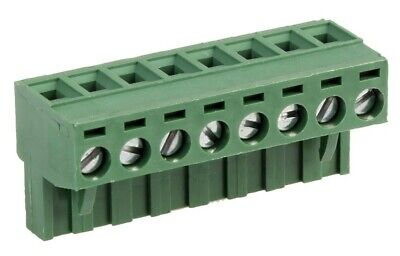 Pluggable Terminal Block 10 Ways 24 AWG Screw 2.5 mm² 7.62 mm 12 AWG