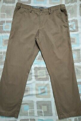"""Men`s Ex-Maine Active Waist Tailored Fit Light Olive Chino Trousers Pant 32/""""//34/"""""""