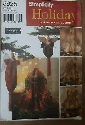 Vintage Simplicity Holiday Pattern Collection # 8925 Angel Tree Toppers and Ornaments