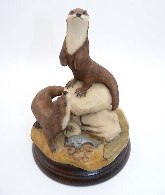 Vintage Hand Painted Otter Sculpture/Ornament, Pendragon Crafts, England