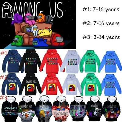 AMONG US IMPOSTERS HOODIE FUNNY GAMING COOL RETRO CHRISTMAS GIFT CREWMATE Hoodie